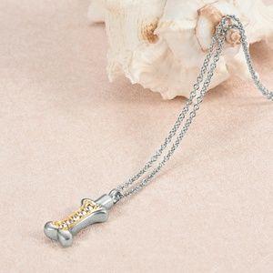 Jewelry - Dog bone cremation urn necklace